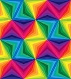 无缝的彩虹条纹 几何模式 适用于纺织品,织品和包装 图库摄影