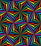无缝的彩虹条纹 几何模式 适用于纺织品,织品和包装 库存图片