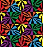 无缝的彩虹条纹 几何模式 适用于纺织品,织品和包装 免版税库存照片