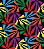 无缝的彩虹条纹 几何模式 适用于纺织品,织品和包装 免版税库存图片