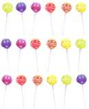 无缝的彩虹棒棒糖样式 免版税图库摄影