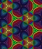 无缝的彩虹螺旋 几何模式 适用于纺织品,织品和包装 免版税图库摄影