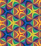 无缝的彩虹螺旋 几何模式 适用于纺织品,织品和包装 免版税库存图片