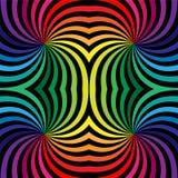 无缝的彩虹螺旋 几何模式 适用于纺织品,织品和包装 免版税库存照片