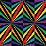 无缝的彩虹Poligonal样式 几何抽象的背景 免版税库存图片