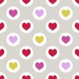 无缝的心脏几何样式 皇族释放例证
