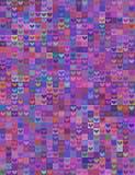 无缝的心脏形状图象紫罗兰色光谱 免版税库存照片