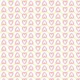 无缝的心脏样式爱 免版税库存图片