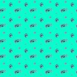 无缝的手拉的五颜六色的水彩紫色光点图形 库存例证