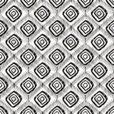 无缝的手拉的样式 菱形的形状 免版税库存图片