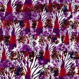 无缝的手拉的水彩样式 墙纸的,瓦片,纺织品,织品,包裹,包装,伪装印刷品明亮的设计 免版税库存图片