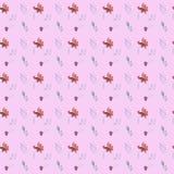 无缝的手拉的水彩花卉样式 库存例证