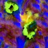 无缝的手拉的水彩样式 免版税库存图片