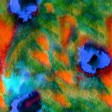 无缝的手拉的水彩样式 免版税库存照片