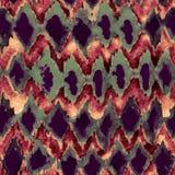 无缝的手拉的水彩shibori样式 图库摄影