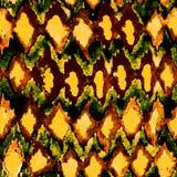 无缝的手拉的水彩shibori样式 免版税库存图片