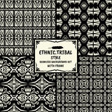 无缝的抽象与fr的样式部族种族样式收藏 免版税库存图片