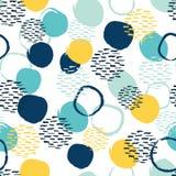无缝的抽象五颜六色的圈子样式 向量例证