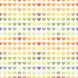 无缝的抽象五颜六色的彩虹华伦泰的 免版税库存照片