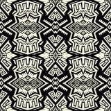 无缝的抽象传染媒介几何样式在单色背景中 免版税图库摄影
