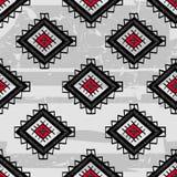 无缝的抽象传染媒介种族样式 部族传染媒介设计 库存照片
