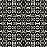 无缝的抽象传染媒介种族部族样式在单色bac中 库存图片