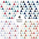 4无缝的抽象几何三角 免版税库存照片