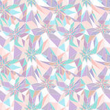 无缝的抽象几何模式 免版税图库摄影
