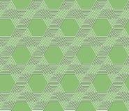 无缝的抽象几何绿色六角样式 皇族释放例证
