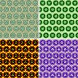 无缝的抽象几何艺术样式集合 库存图片