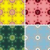 无缝的抽象几何艺术样式集合 免版税库存图片