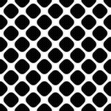 无缝的抽象单色方形的样式-导航从对角线被环绕的方形的小点的背景图表 向量例证