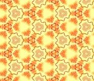 无缝的抽象墙纸,橙黄色 为设计的依据 库存图片