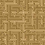 无缝的抽象复杂迷宫,迷宫 库存照片
