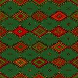 无缝的抽象手拉的ethno样式,部族背景 库存照片
