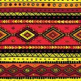 无缝的抽象手拉的ethno样式,部族背景 免版税图库摄影