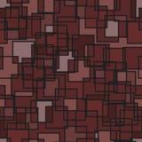无缝的抽象方形的样式 库存图片