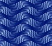 无缝的抽象样式波浪 皇族释放例证