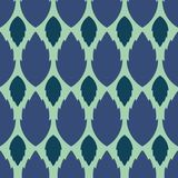 无缝的抽象样式,蓝色叶子,在一浅兰的backgrou 图库摄影