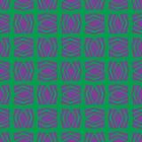 无缝的抽象样式sqaure瓦片在颜色背景中 免版税库存照片