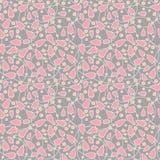 无缝的抽象桃红色花 图库摄影