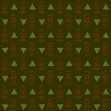 无缝的抽象深绿,卡其色,橙色背景 库存照片