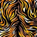 无缝的抽象狂放的异乎寻常的动物印刷品 豹子,斑马, gepard 皇族释放例证