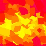 无缝的抽象红色和黄色污点 库存例证