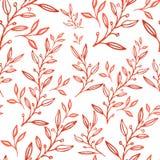无缝的抽象花卉样式,手拉的例证可以为织物印刷或背景,墙纸,广告,横幅使用 库存例证