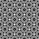 无缝的抽象花纹花样 黑白传染媒介背景 几何装饰品 库存照片