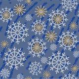 无缝的抽象雪花难看的东西纹理534 库存例证