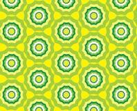 无缝的抽象黄色模式背景与 库存照片