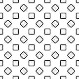 无缝的抽象黑白照片环绕了方形的样式背景设计-半音几何向量图形 皇族释放例证