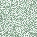 无缝的抽象绿色叶子样式,叶子传染媒介背景 库存例证